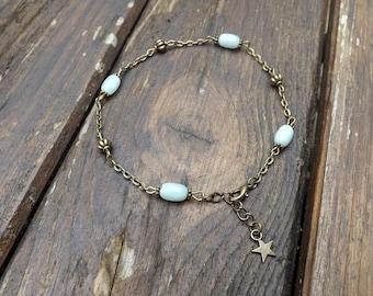 """""""nella"""" beads amazonite anklet"""