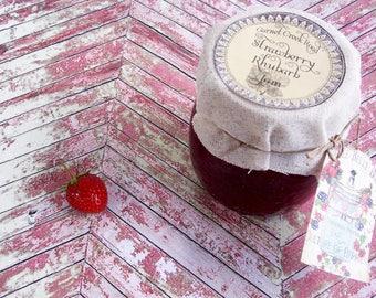 Strawberry Rhubarb Jam ~ 8.5 oz. ~ Strawberry Preserves ~ Rhubarb Jam ~ Artisanal Jam ~ Small Batch ~ Handcrafted Jam