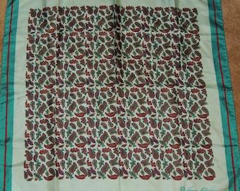 ANNE KLEIN Aqua Paisley Silk Scarf 26 x 26