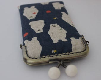 iPhone 8 Sleeve iPhone 8 Pouch Linen Fabrib