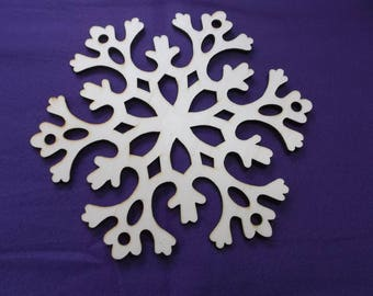 1 snowflake, wood, 20 cm (14-0001A)
