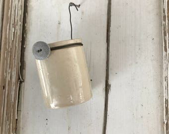 hanging vintage pot/vase