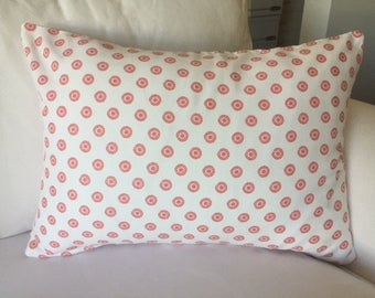 Pink Starburst Dot Lumbar Pillow