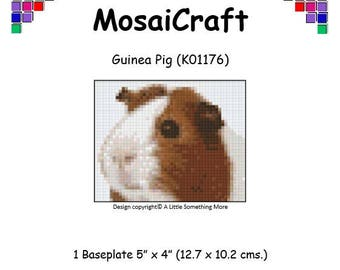 MosaiCraft Pixel Craft Mosaic Art Kit 'Guinea Pig' (Like Mini Mosaic and Paint by Numbers)