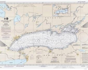 Lake Ontario 1991 Nautical Map Reprint - Great Lakes 002