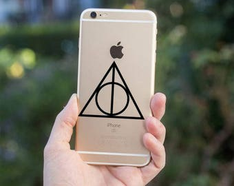 Harry Potter Deathly Hallows- Vinyl Decal for iPhone, iPad, or Macbook- Car Decal-Yeti Cup Decal