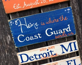 Home is Where the Military Sends Us - hand painted sign