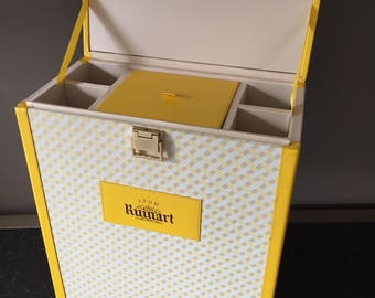 1980s French RUINART Champagne Bottle Picnic Carrier for Elegant Picnics