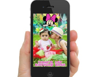 Peeking Minnie Geo Filter for SnapChat PNG Digital File Only