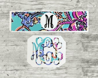 Phone decal, Phone monogram, Lilly monogram, iPhone charger, charger wrap,  charger decal, Lilly Pulitzer Monogrammed Decal, Preppy stickers
