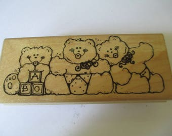 "Rubber Stamp "" The Binky Bunch"" slightly used good condition"