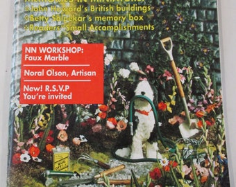 Nutshell News Magazine. Back issue April 1994  used .  Dollhouse Miniature projects good condition