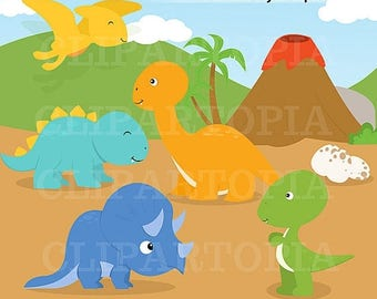 50% OFF SALE Dinosaurs Digital Clipart for Personal And Commercial Use