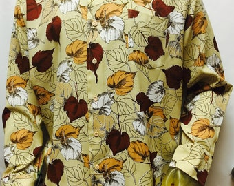 Vintage Sears Leaves Shirt in size XL