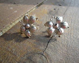 Maricela Flower Sterling Earrings