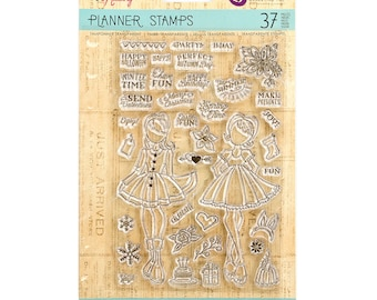 Julie Nutting Prima PLANNER Clear Stamps - HOLIDAY BLISS - 911713 1.cc02