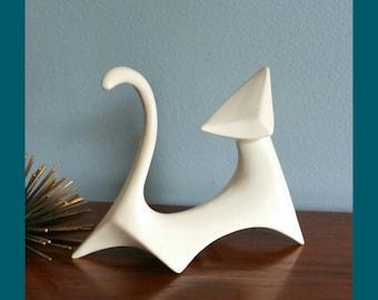 Mid century modern cat sculpture