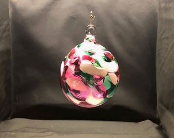 Hand Blown Glass Ornament - (Color Name: Jolly Holly)