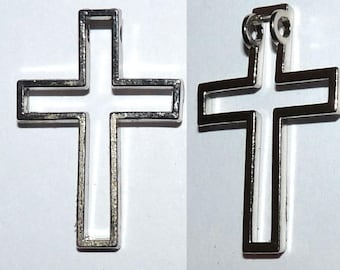 Cross charm openwork 3.3 cm pendant for necklace Etsy jewelry creations