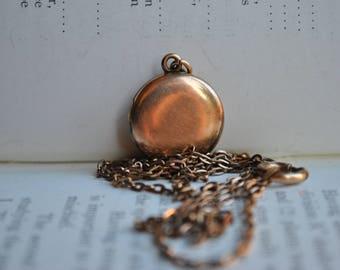 Antique Gold Filled Locket - 1900s Round Gold Filled Locket
