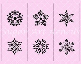 snowflakes stars stencils set of 6 SL2047