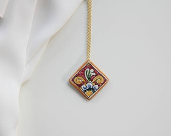 Ceramic sicily necklace