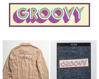Groovy Letters Embroidered Sticker Patch Set Spaced Out Collection