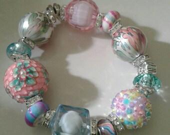 Pastel chunky bracelet