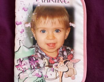 protected health book new Carousel Design personalized with the baby photo