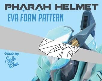 Overwatch Pharah Raptorion Mecha Queen Helmet Instructional  EVA Foam pattern cosplay