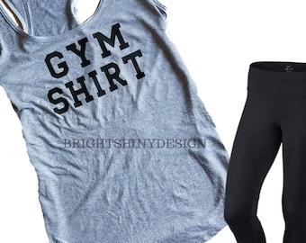 GYM SHIRT, TANK top, Funny Workout top, Funny tank top, Women's workout, Gray tank top