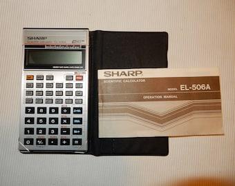 Sharp Scientific Calculator, EL-506A, 1986