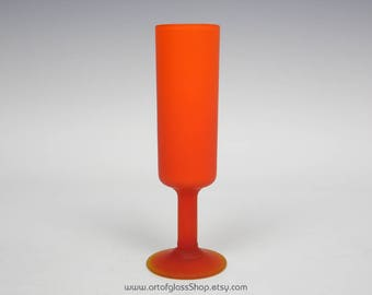 Carlo Moretti Murano satinato orange glass