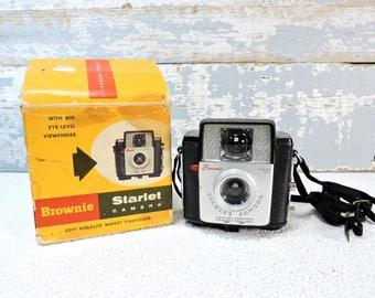 KODAK Brownie Starlet Camera Black White & Color Model Camera Vintage Collectible Old Camera Mid Century Photography Decor