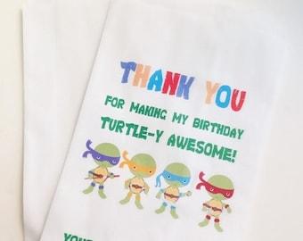 ON SALE Ninja Turtles Birthday Favor Bags, Candy Buffet Bags, Treat Bags, Party Favor Bags, Candy Bar Bags