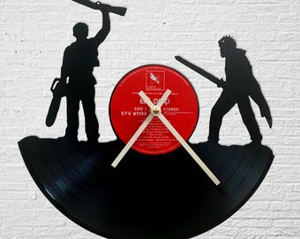 Ash and Evil Ash Army of Darkness Record Clock