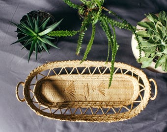 Vintage Handmade Woven Basket