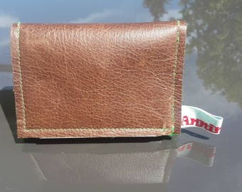 Pocket purse leather green