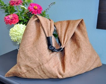 Linen & Leather Tote