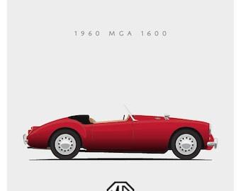 1960 MGA 160 - 8x10 inch Giclee Print
