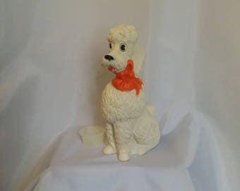 Shop closing Vintage poodle bank 50s plastic poodle bank Niagara Plastics dog bank