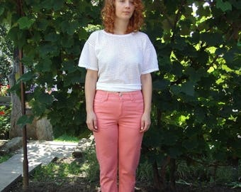 ON SALE 80's vintage women's coral pants