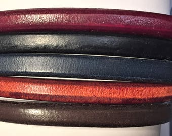 "Shorts: 5 Strands licorice leather bundle, 6"" each, Colors as shown, #14 bundle"