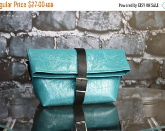 SALE Messenger bag, tote bag, crossbody purse, turqoise ecoleather