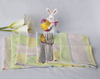 Cloth napkins. Eco friendly washable reusable napkins. Breakfast Lunch dinner. Home office school