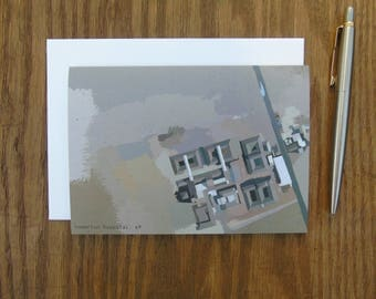 Homerton Hospital, E9. Aerial Map of Urban London- greeting card