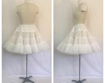 Vintage 1960's White Crinoline/ Petticoat