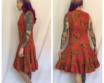 FLASH SALE Vintage 1960's Paisley Dress by Young Edwardian
