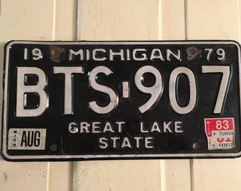 1979 Michigan Licence Plate
