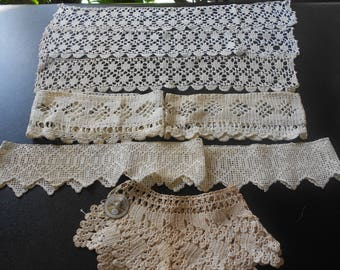 Very nice assortment of vintage trims and crochet